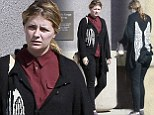 Worn out angel: Mischa Barton looks totally exhausted in dowdy winged sweater during ATM run
