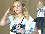 What happened to your wrist? Malin Akerman sports arm cast as she steps out in rocker chic attire
