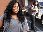 'I'm shocked!' Amber Riley arrives to DWTS rehearsals in tight fitting workout gear after revealing she's gotten 'smaller' from dancing