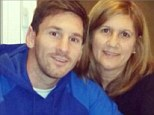 Food for thought: Lionel Messi warmed up for Wednesday's crunch clash against AC Milan with a meal with his mother