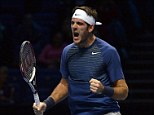 Pushed: Juan Martin Del Potro beat Richard Gasquet in a tough three-setter at the ATP World Tour Finals