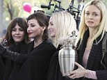 Celebs take selfies too! Gina Gershon and Heather Graham take pics together on the set of My Dead Boyfriend