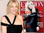 Cover girl: Courtney Love graced the cover of Fashion magazine and gave a typically candid interview