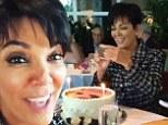Kris on a Kake! Kardashian matriarch gets her face emblazoned on edible delight as her daughters shower her with birthday love