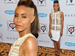 Jada Pinkett Smith shows off her new hairstyle in Beverly Hills on Monday evening