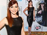 What a transformation! Alyson Hannigan swaps practical jeans for vampy leather dress as she steals show at equality event