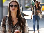 Salon visit: Alessandra Ambrosio emerged from a nail salon in Santa Monica, California looking casual yet chic