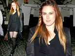 Temptress: Rumer Willis donned a simple yet revealing black ensemble as hit up Chateau Marmont in West Hollywood, California on Saturday