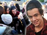 Harry Styles gets mobbed