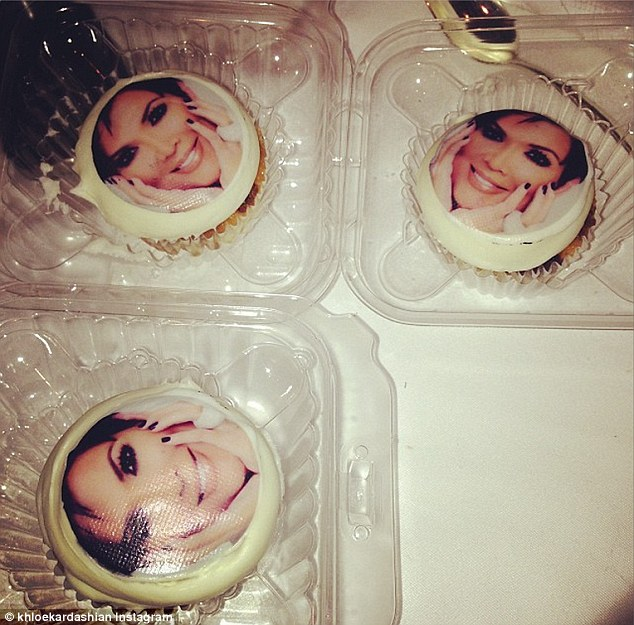 And more! Khloe Kardashian uploaded this tasty snap of a series of smaller cakes with Kris' face on them