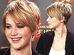 The Katniss crop! Jennifer Lawrence chops her locks into a pixie haircut after her hair gets 'fried' from over dyeing
