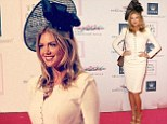 Demure but dazzling! Kate Upton is unusually covered up in buttoned peplum suit for Melbourne cup luncheon