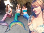 The little mermaid! Bella Thorne dresses up as a fabled sea creature in dazzling new photo shoot with her sisters