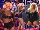 Check her out! Christina Aguilera slips into sheer bodysuit studded with rhinestones to perform sultry number on The Voice