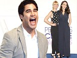Darren Criss jumps for joy as Glee leads People's Choice Awards nominations with eight nods... while Kat Dennings and Beth Behrs are named hosts