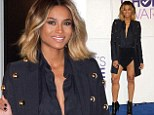 And the award for best legs goes to... Ciara steals the spotlight in a barely-there miniskirt at People's Choice nominations