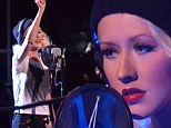 Sublime performance: Christina Aguilera launched The Voice on Tuesday by performing Say Something with A Great Big World
