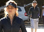 Knickerbocker glory! Isla Fisher dons bizarre baggy cropped sweatpants for hike with friend