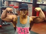 'Beast mode!' Snooki shows off huge muscles in Instagram video of herself pumping iron... but it's just her trainer