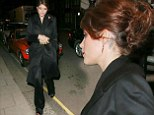 Gemma Arterton shows off glamorous up do as she arrives at Harper's Bazaar Awards in belted black coat and sparkly trousers