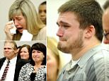 Conner McCowen (pictured) broke down in a Michigan court as the sentence was handed out on Wednesday even though he says he stabbed Andrew Singler in self defense.