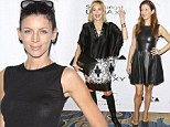 Fashion through the decades! Liberty Ross, 35, dares to bare in see through top... as Kate Walsh, 46, is racy in leather and Sharon Stone, 55, covers up in style