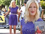 Tori Spelling reveals she expected greater share of Aaron's millions while promoting new memoir