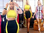 Nicki Minaj displays her bombshell hourglass shape in skintight garb as she models her Kmart clothing line