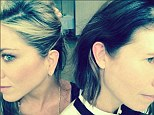 New haircut...and earring! Jennifer Aniston gets matching cartilage piercing with gal pal Gucci Westman