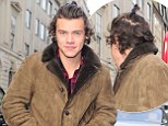 One Direction's Harry Styles sports TINY ponytail after sleeping for 'three days' following world tour