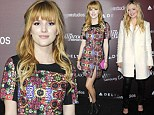 Bella of the ball! Thorne shows her edge in artsy frock as she joins lovely in ivory Francesca Eastwood at gala