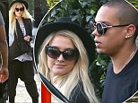 Ashlee Simpson and Evan Ross in harem pants