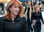'Don't judge... there's an age difference!' Kathy Griffin, 53, and Randy Bick, 35, step out after she defends their relationship