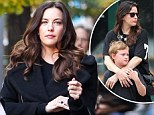 'I take it easy on him': Chic Liv Tyler reveals her approach to raising her son as she promotes book on modern manners