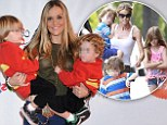 'She's trying to turn them against me': Brooke Mueller accuses Denise Richards of manipulating her twins after son Bob 'kicked and slapped' her