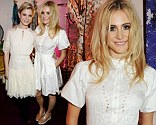 Just heavenly: Pixie Lott and Emilia Fox wear white and cream tea dresses to Gordon's and Temperley London party