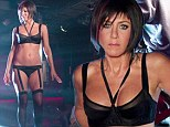 Was that your haircut inspiration? Lingerie-clad Jennifer Aniston sports a bobbed wig and not much else in We're The Millers behind the scenes shots