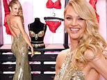 Forget the diamonds and rubies! Candice Swanepoel manages to outshine Victoria's Secret's $10m fantasy bra as she slips into stunning slinky gold gown