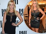 Shrinking beauty: Miranda Lambert shows off a much slimmer physique as she slips into a racy LBD for the BMI Country Awards