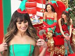 Naughty or nice? A festive Lea Michele leads her fellow Gleeks in a Christmas-themed episode dressed as elves