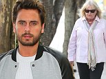 In mourning: Scott Disick 'extremely sad' by sudden loss of his mother Bonnie, 63, as he attends funeral with Kourtney Kardashian