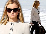 Hot enough for you? Kristin Bell dons a full suit while filming a beach scene for House of Lies