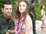 Together at last! Rom-com favourites Rachel McAdams and Bradley Cooper give fans a first glimpse as they film new movie in Hawaii