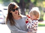 Hot momma! Jennifer Garner wore a slimming ensemble as he took her son Samuel out in Santa Monica, California on Thursday