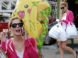 Planning a party? Leggy Ashley Greene shops for balloons before lugging home bags of takeout food