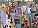 Clearly NOT broke: Tori Spelling throws lavish cowboy-themed birthday party for her kids after claiming to be strapped for cash