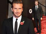 David Beckham attends the GQ Awards in Berlin on Thursday evening