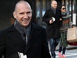 His fair Lady! Ralph Fiennes walks arm-in-arm with socialite lover Amanda Harlech in New York