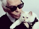 Look of love: With no spouse or children, Mr Lagerfeld joked earlier this year that he would marry the feline if he could