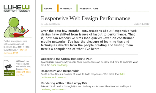 Responsive Web Design Performance